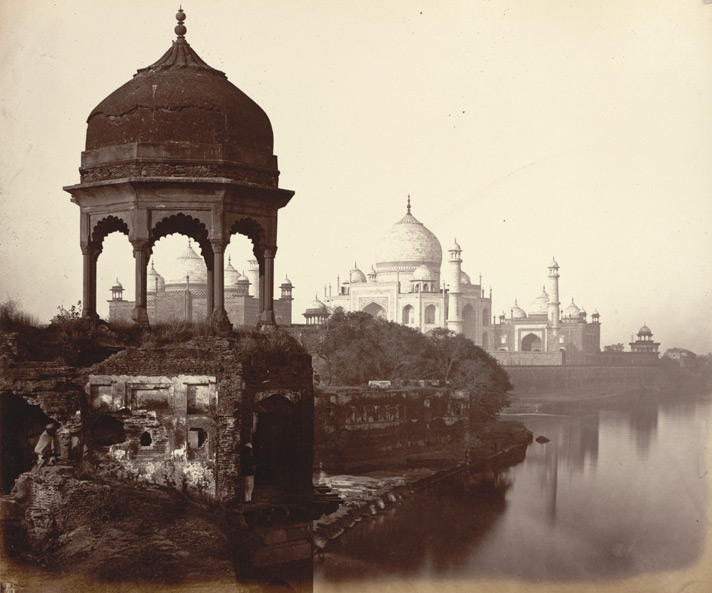 The Taj, Agra, from the river.